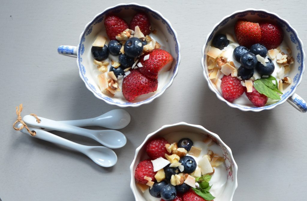yogurt and fruit YogicFoods