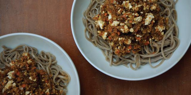 pasta with mushroom sauce YogicFoods