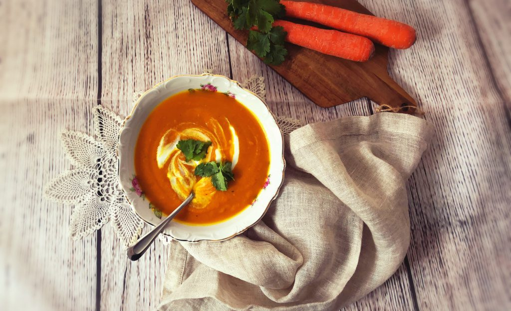 carrot ginger turmeric soup