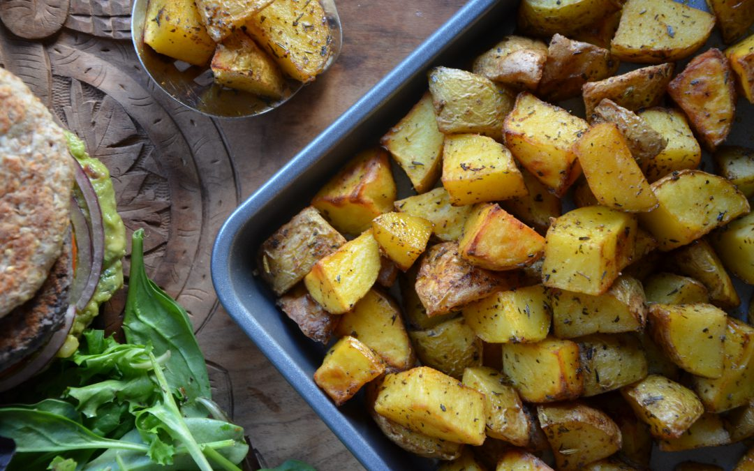 roasted potatoes for Root Chakra by YogicFoods
