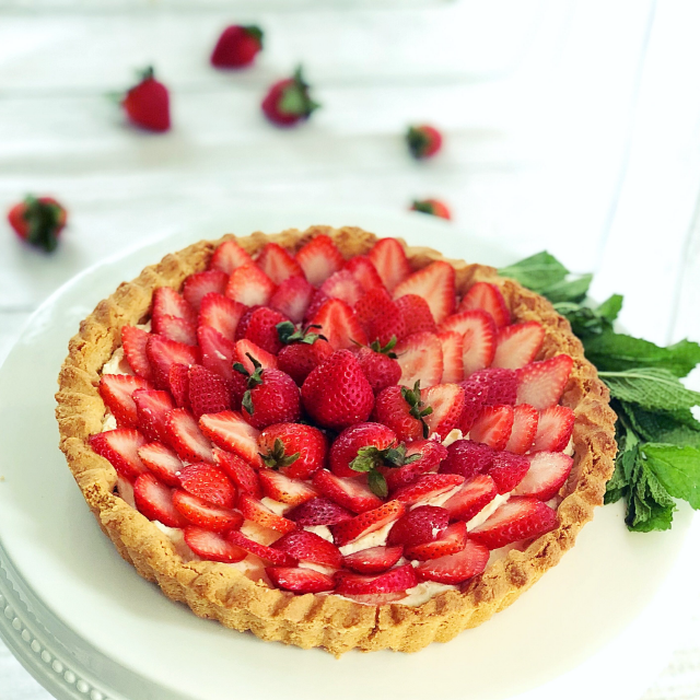 Gluten Free Strawberry Tart for Muladhara, Root Chakra by YogicFoods