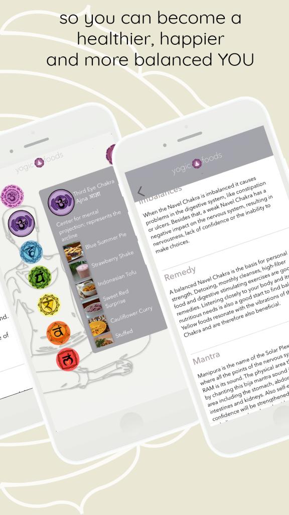YogicFoods App chakra info
