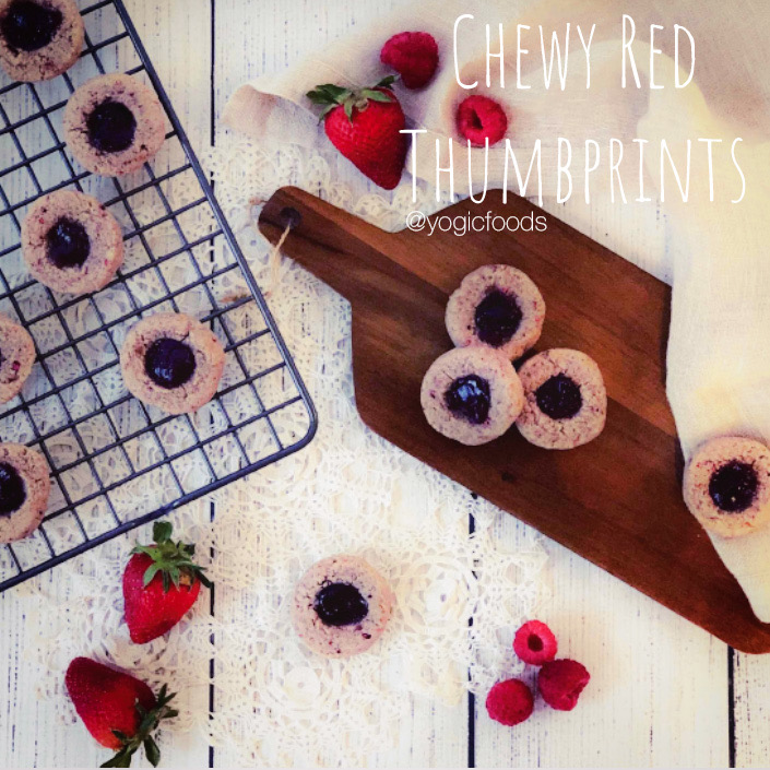 chewy red thumbprints by YogicFoods