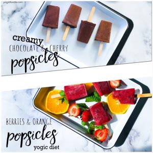 square popsicles fruity and chocolate creamy yogic diet yogic foods