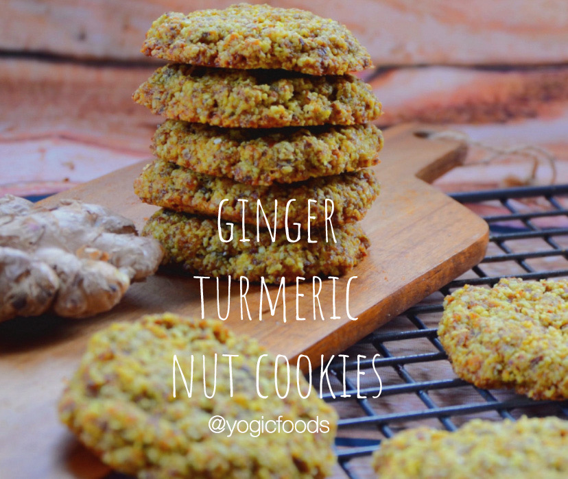 ginger turmeric nut cookies by YogicFoods
