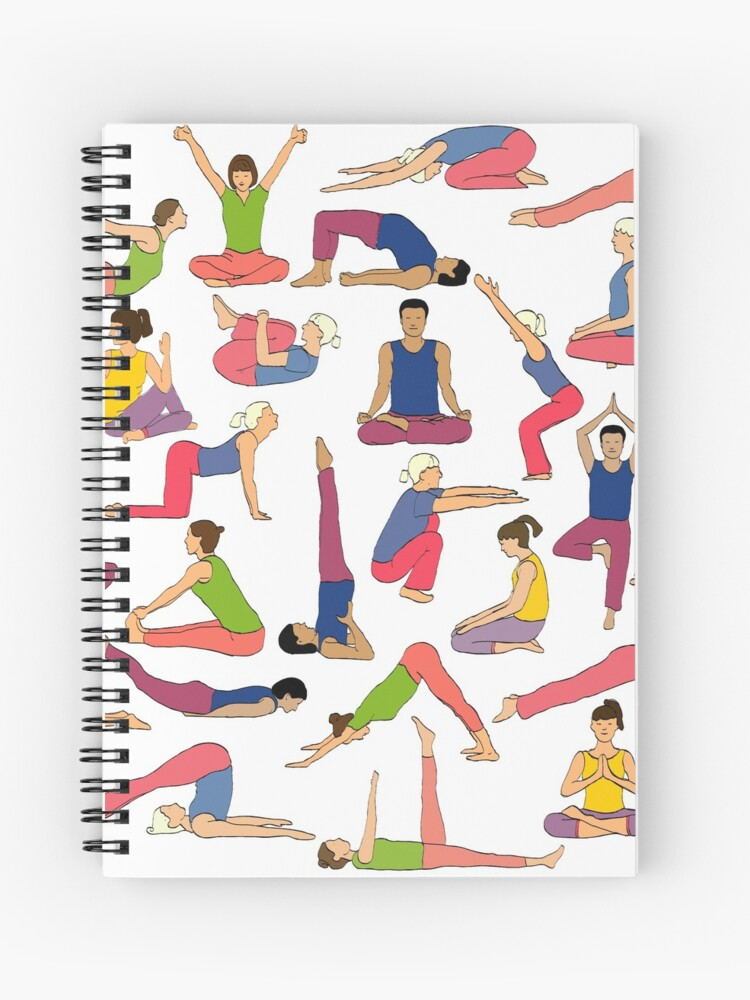 yoga poses notebook by Yogic Foods Yoga Map