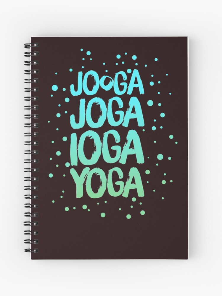 yoga around the World Series notebook by YogicFoods
