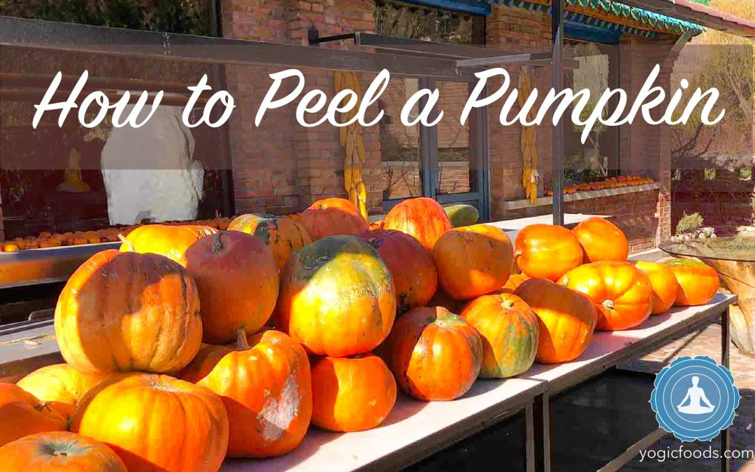 How to peel a pumpkin