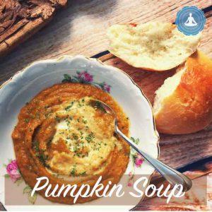 Pumpkin soup from Yogic Foods yogic diet